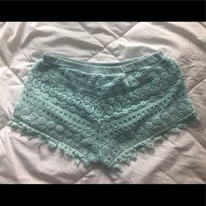 Lacy stretch shorts